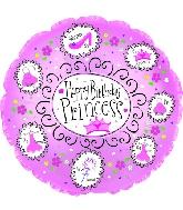 "9"" Airfill Happy Birthday Princess M29"