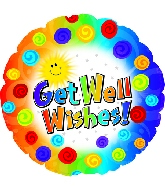 "9"" Airfill Get Well Dots & Swirls Balloon"