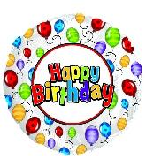 """9"""" Airfill Happy Birthday Fly Away Balloons"""