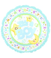 "4"" Airfill It's A Boy Moon & Stars M58"