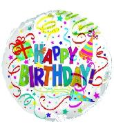 "4"" Happy Birthday Party Hat & Horn M60"