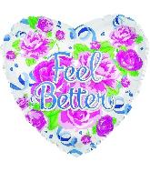 """17"""" Feel Better Cottage Roses Balloon"""