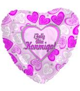 """18"""" Feliz Dia Konmigo Pink Balloon"""