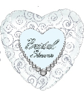 """18"""" Bridal Shower Pearls Wishes"""