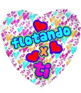 "18"" Flotando X Ti Globos"