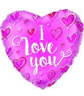 "9"" I Love You Chalk Hearts Balloon"