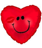 "9"" Airfill Smiley Kiss Balloon"