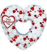 """14"""" Airfill HVD Mosaic Heart Cut-out M223"""