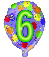 """18"""" Number Balloon Shaped """"6"""""""
