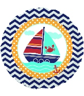 """18"""" Ahoy Matey Foil Balloon"""