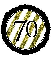 """18"""" 70 Black & Gold Glitter Foil Balloon"""