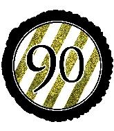 """18"""" 90 Black & Gold Glitter Foil Balloon"""