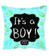 """18"""" Baby Blue Chalkboard Foil Balloon"""