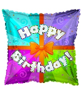 "17"" Happy Birthday Day Colorful Present Balloon"