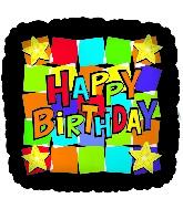 "18"" Happy Birthday Dancing Squares"