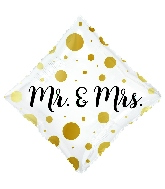 "18"" Mr. & Mrs. Diamond Foil Balloon"