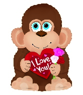 """12"""" Airfill Only Mr Loveable Monkey Shape Foil Balloon"""