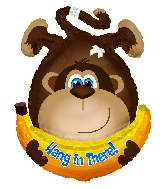 "28""Hang In There Monkey Shape Balloon"