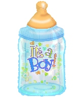 "33"" It's a Boy Bottle Balloon"
