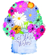 "18"" Floral Get Well Jar Foil Balloon"