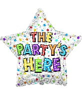 "17"" The Party's Here Bright Bulbs Foil Balloon"