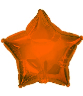 "9"" Orange Star Balloon"