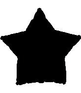 "9"" Black Star Balloon"
