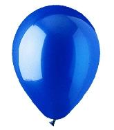 "9"" Crystal Sapphire Blue Latex (100 Per Bag)"