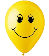 "12""  Smiley Face Latex 50's"