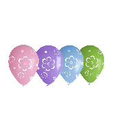 "12"" Flowers Assorted Latex Balloons (50 Per Bag)"