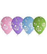 "12"" Cupcakes Assorted Latex Balloons (50 Per Bag)"