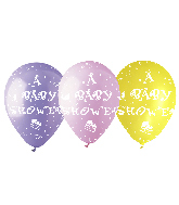 """12"""" Baby Shower Assorted Latex Balloons (50 Per Bag)"""