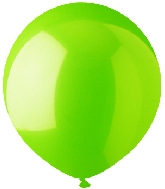"""17"""" Standard Lime Green Latex 72 Count"""