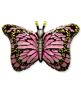 "38"" Jumbo Foil Shaped Balloon Royal Butterfly Pink"