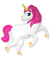 "41"" Jumbo Foil Shaped Balloon Pink Unicorn"