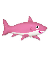 "42"" Jumbo Foil Shaped Balloon Happy Shark Pink"