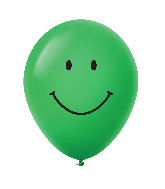 "11"" Smiley Face Latex Balloons 25 Count Green"