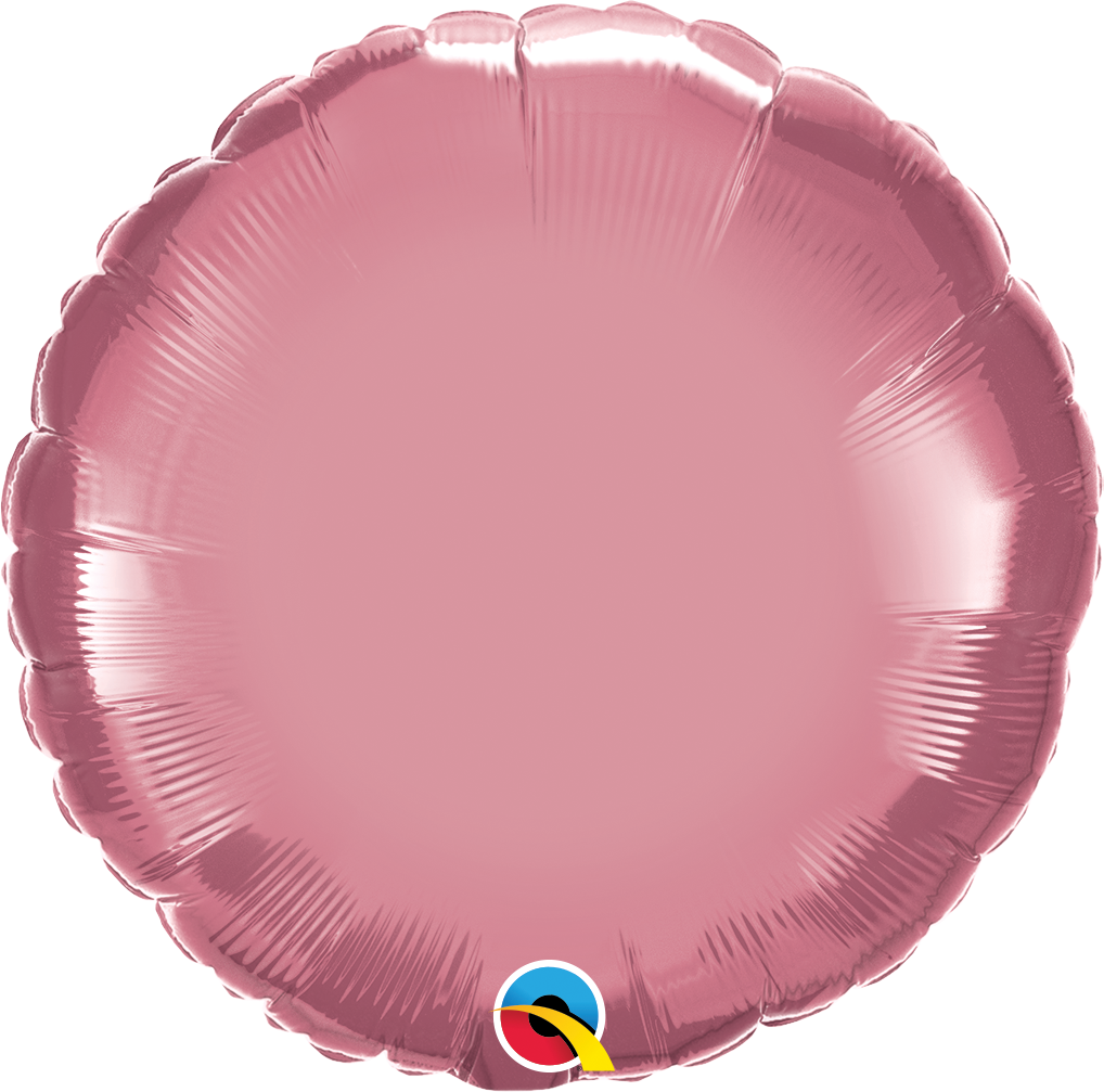 "18"" Round Qualatex Chrome Mauve Foil Balloon"