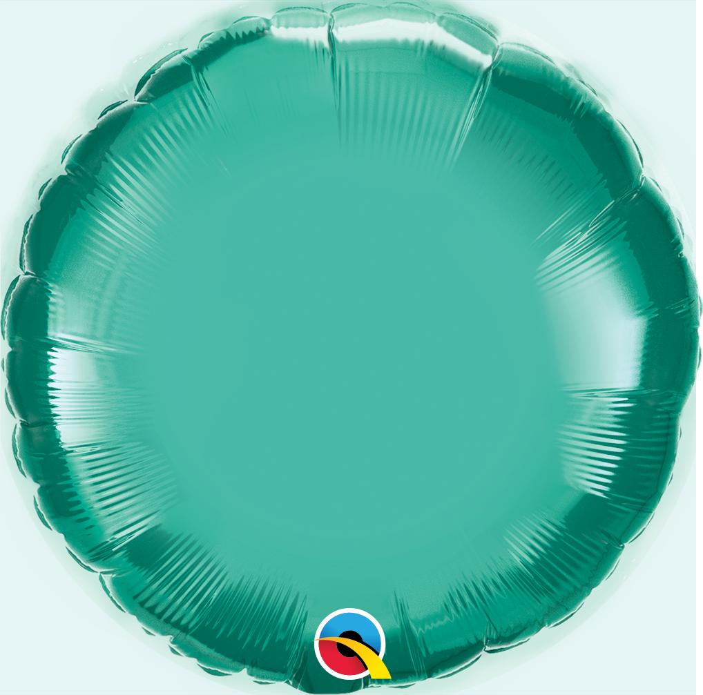 """18"""" Round Qualatex Chrome Green Foil Balloon"""