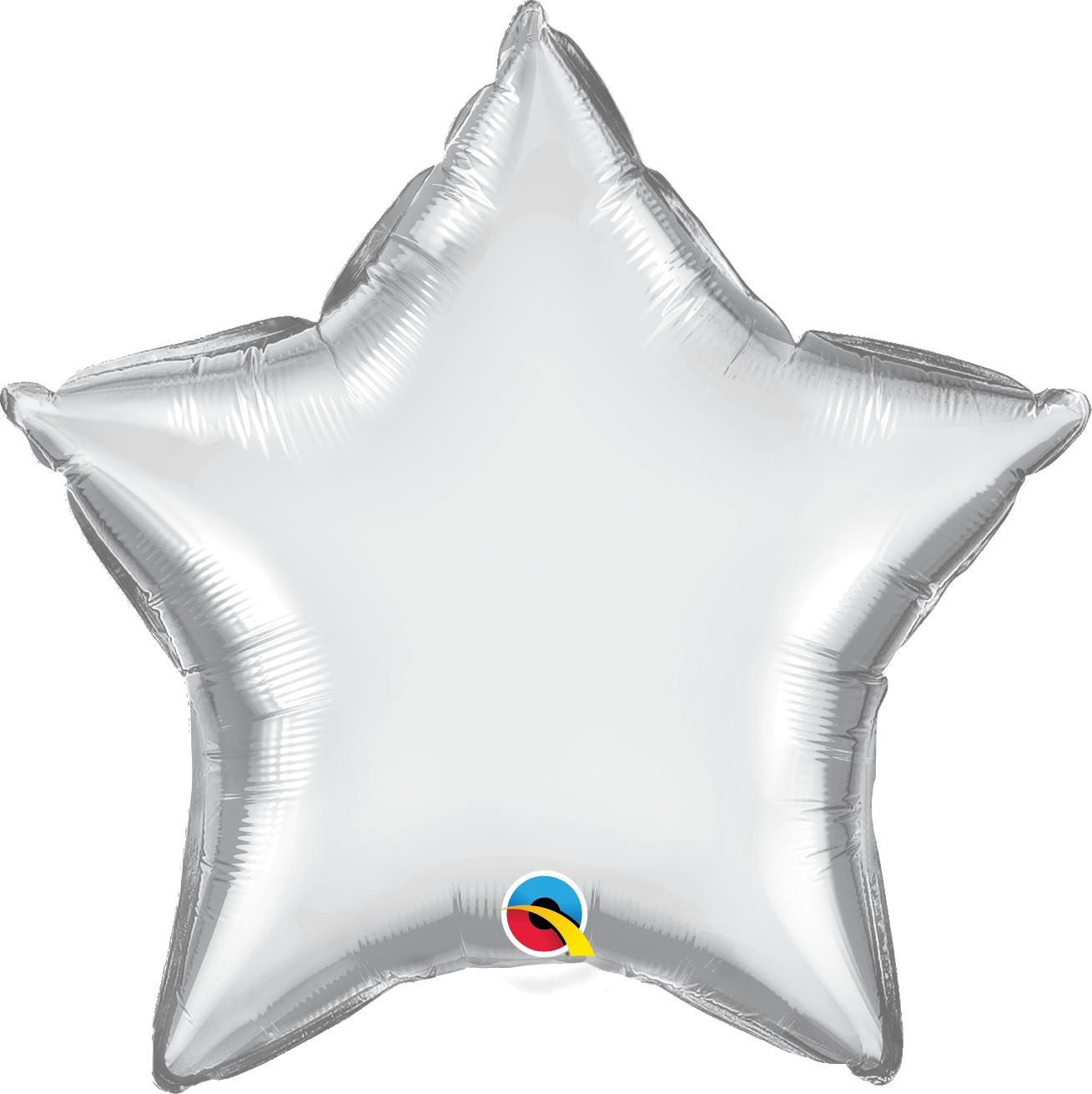 """20"""" Star Qualatex Chrome Silver Foil Balloon"""