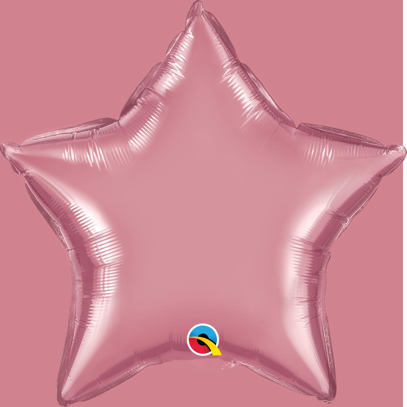 """20"""" Star Qualatex Chrome Mauve Foil Balloon"""