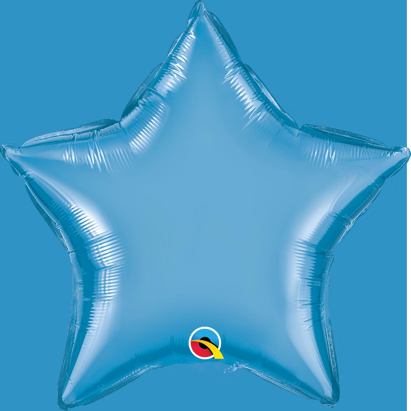 """20"""" Star Qualatex Chrome Blue Foil Balloon"""