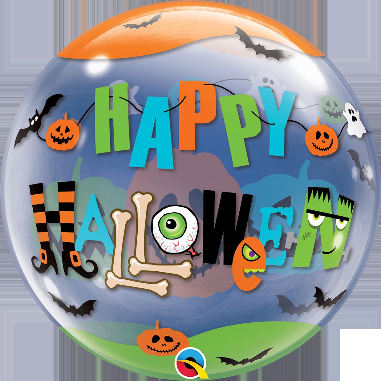 """22"""" Round Halloween Fun Font Bubble Balloon"""