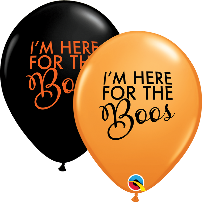 """11"""" Simply Here For The Boos Latex Balloons (50 Per bag)"""