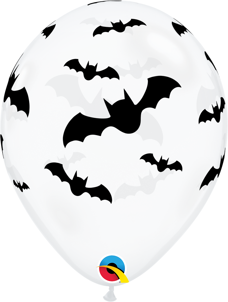 "11"" Bats Diamond Clear Latex Balloons (50 Per bag)"