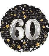 "18"" Happy Birthday Gold Number 60 Balloon"