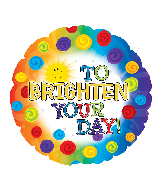 "9"" Airfill Only Brighten Your Day Foil Balloon"