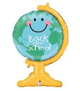 """33"""" Foil Shape Back to School Globe Foil Balloon"""