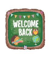 "18"" Foil Welcome Back School Foil Balloon"