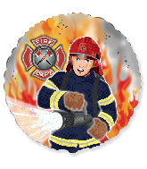 "18"" Fireman/Firefighter Foil Balloon"